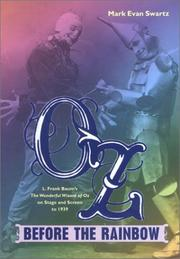 Cover of: Oz before the Rainbow | Mark Evan Swartz