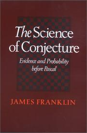 Cover of: The Science of Conjecture | James Franklin