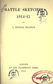 Cover of: Battle sketches 1914-15