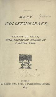 Cover of: The collected letters of Mary Wollstonecraft