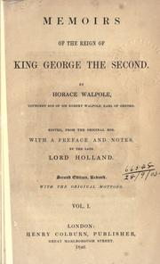 Memoirs of the reign of King George the Third by Horace Walpole