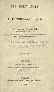 Cover of: Holy state and the profane state