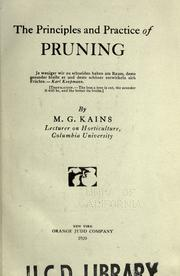 Cover of: The principles and practice of pruning ..