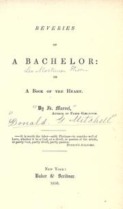 Cover of: Reveries of a Bachelor
