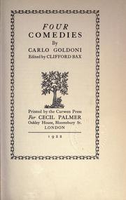 Selected works by Goldoni