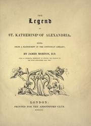 Cover of: The legend of St. Katherine of Alexandria