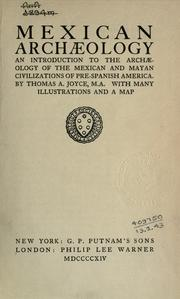 Cover of: Mexican archaeology