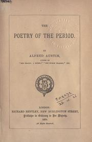 Cover of: The poetry of the period