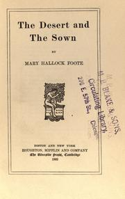 Cover of: The desert and the sown