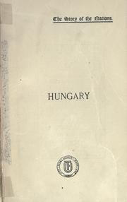 Cover of: Hungary in ancient, mediaeval, and modern times