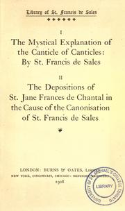 Cover of: The mystical explanation of the Canticle of canticles