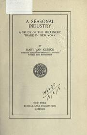 Cover of: A seasonal industry