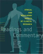 Cover of: Ethical and Regulatory Aspects of Clinical Research |