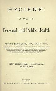 Cover of: Hygiene: a manual of personal and public health