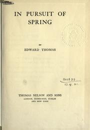 Cover of: In pursuit of spring