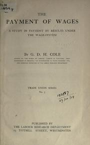 Cover of: The payment of wages