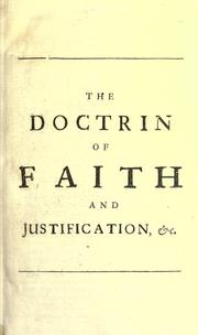 Cover of: The doctrin of faith and justification set in a true light