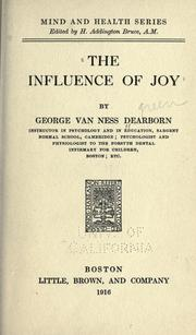 Cover of: The influence of joy