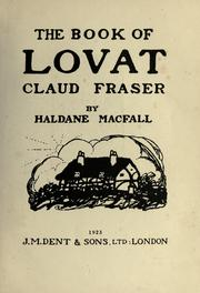 Cover of: The book of Lovat Claud Fraser