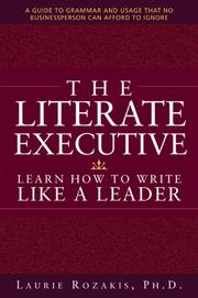 Cover of: The literate executive