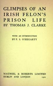 Cover of: Glimpses of an Irish felon's prison life