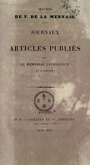 Cover of: Journaux