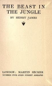 Cover of: The beast in the jungle | Henry James Jr.