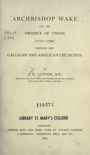 Cover of: Archbishop Wake and the project of union (1717-1720)