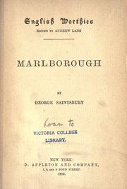 Marlborough by Saintsbury, George