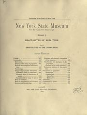 Graptolites of New York by Rudolf Ruedemann