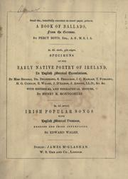 Cover of: Ballads, poems, and lyrics, original and translated. by Denis Florence Mac Carthy
