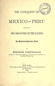 Cover of: The conquest of Mexico and Peru, prefaced by The discovery of the Pacific