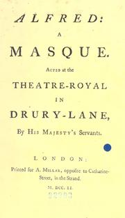 Cover of: Alfred: a masque