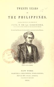 Twenty years in the Philippines [1819-1839] by Paul P. de La Gironière
