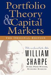 Portfolio Theory And Capital Markets