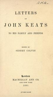 Cover of: The letters of John Keats