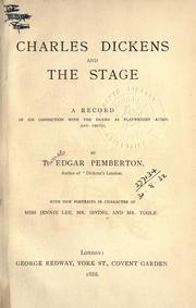 Cover of: Charles Dickens and the stage