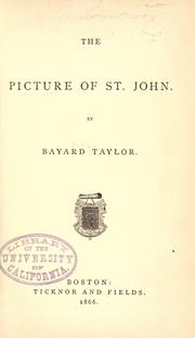 Cover of: The  picture of St. John