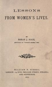 Cover of: Lessons from women's lives