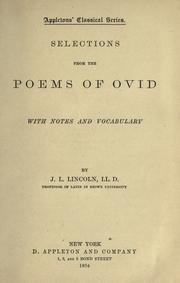 Cover of: Selections from the poems of Ovid