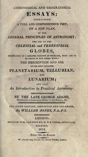Astronomical & geographical essays by Adams, George