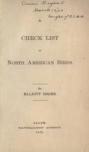 Cover of: A check list of North American birds. | Elliott Coues