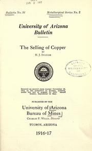 Cover of: The selling of copper, 1916-17