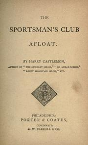 Cover of: The sportsman's club afloat