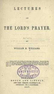 Cover of: Lectures on the Lord's prayer