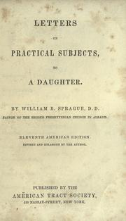 Cover of: Letters on practical subjects to a daughter