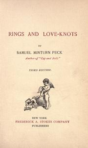 Cover of: Rings and love-knots by