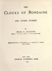 Cover of: The clocks of Rondaine, and other stories