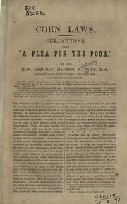 Cover of: Corn laws