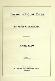 Cover of: Terminal cost data by Bruce Verne Crandall